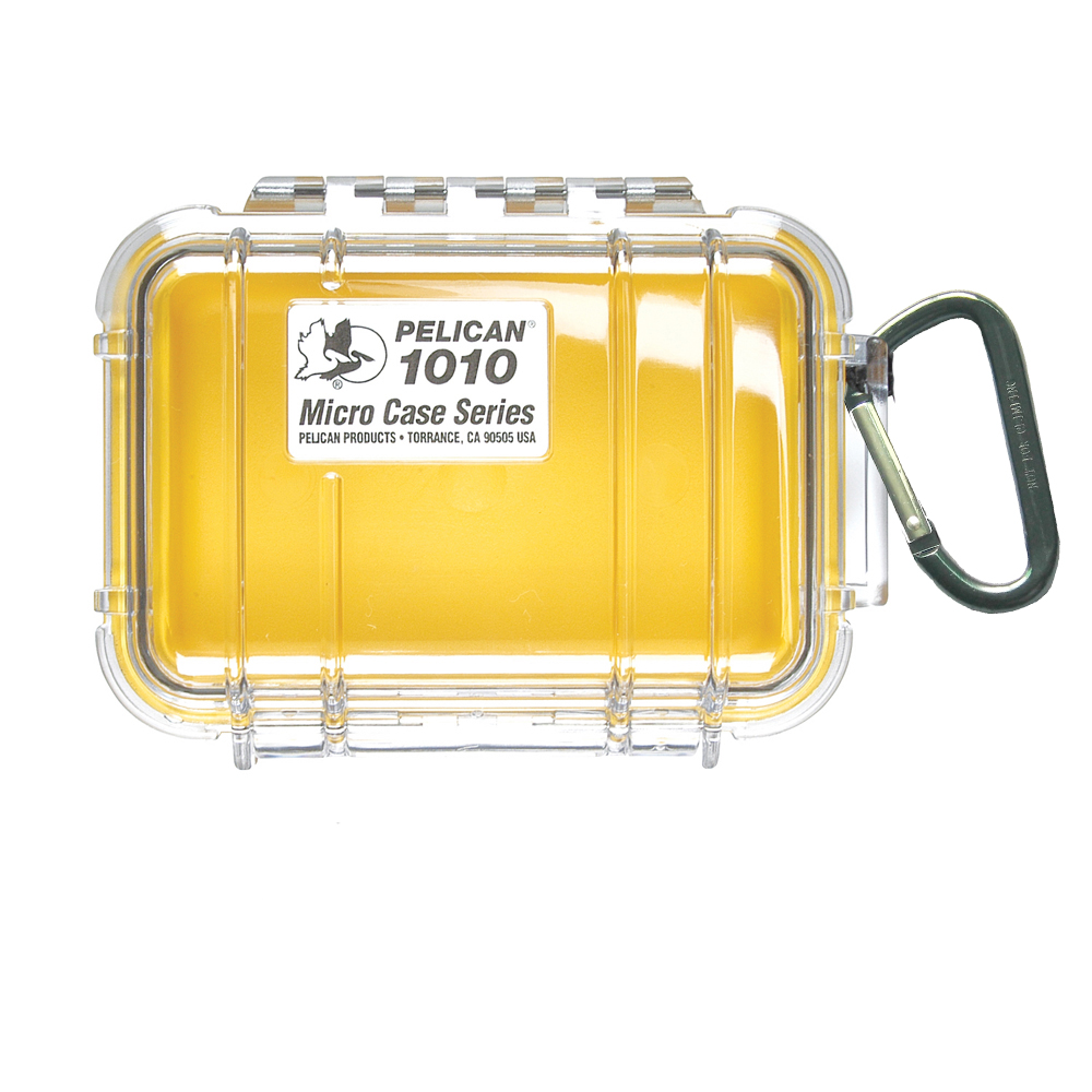 Pelican 1010 Micro Case w/Clear Lid - Yellow