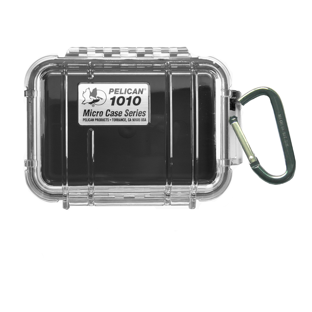 Pelican 1010 Micro Case w/Clear Lid - Black