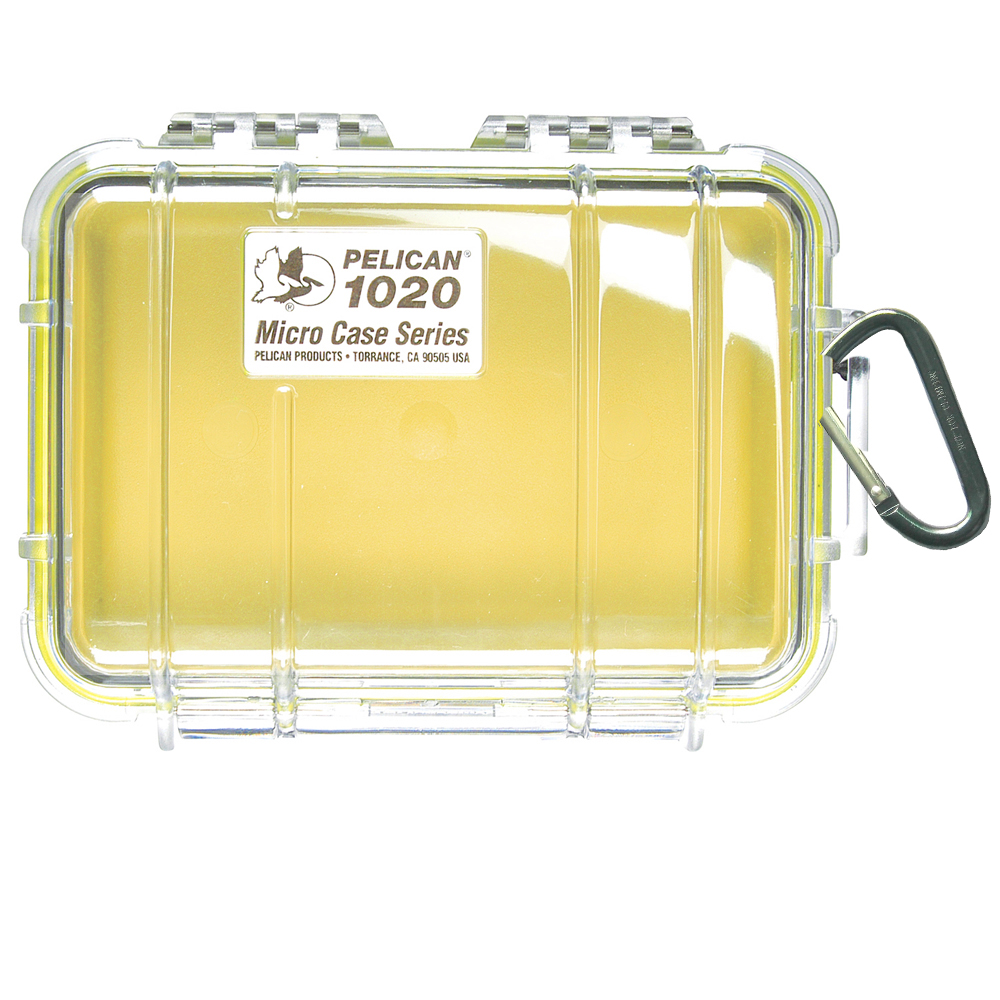 Pelican 1020 Micro Case w/Clear Lid - Yellow