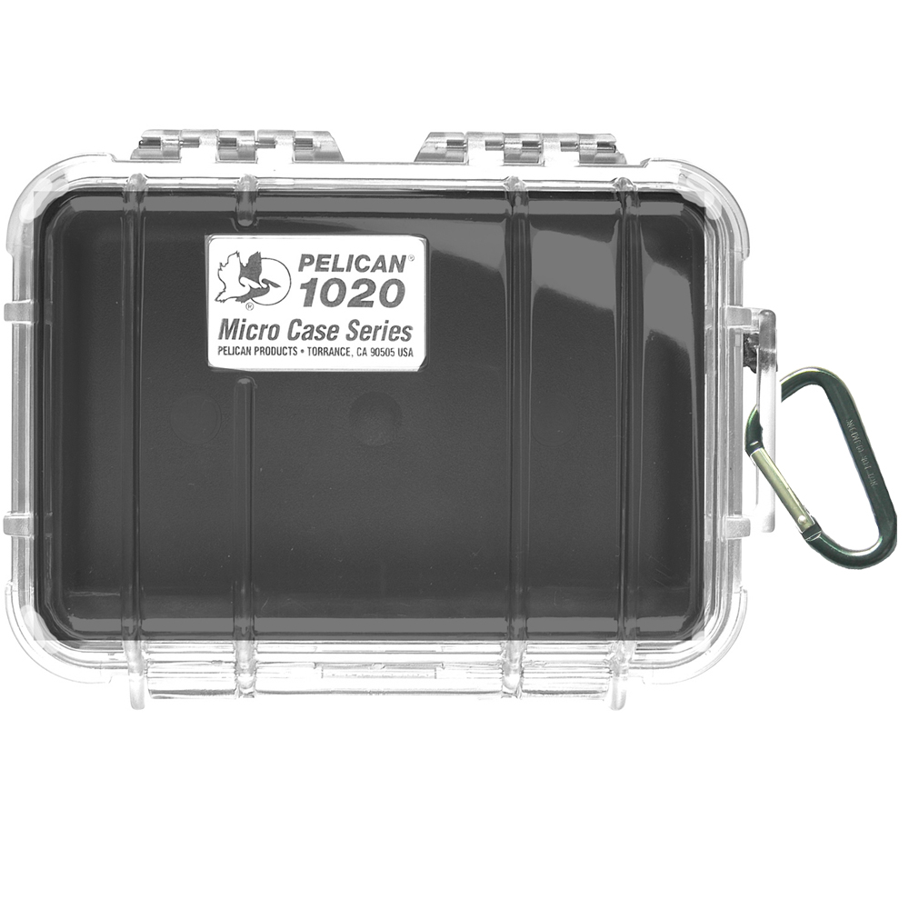 Pelican 1020 Micro Case w/Clear Lid - Black