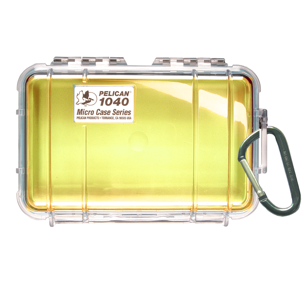 Pelican 1040 Micro Case w/Clear Lid - Yellow