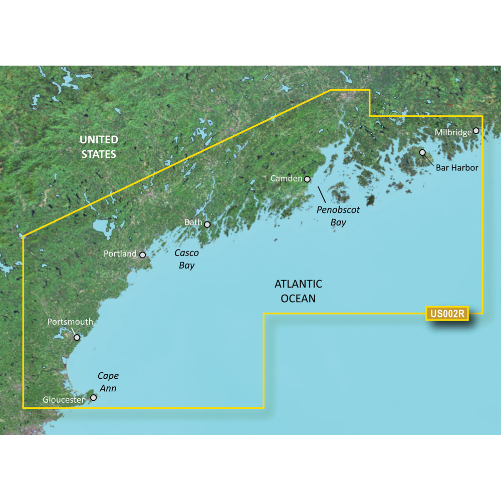 Garmin BlueChart® g2 Vision® - VUS002R - South Maine - microSD™/SD™