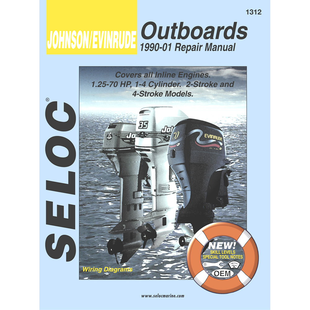 Seloc Serive Manual - Johnson/Evinrude - Inline Engines - 1990-2001