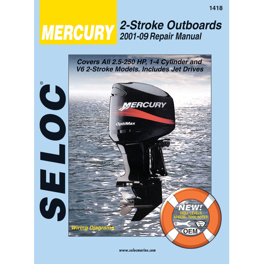 Seloc Service Manual - Mercury/Mariner - All 2 Strokes - 2001-14