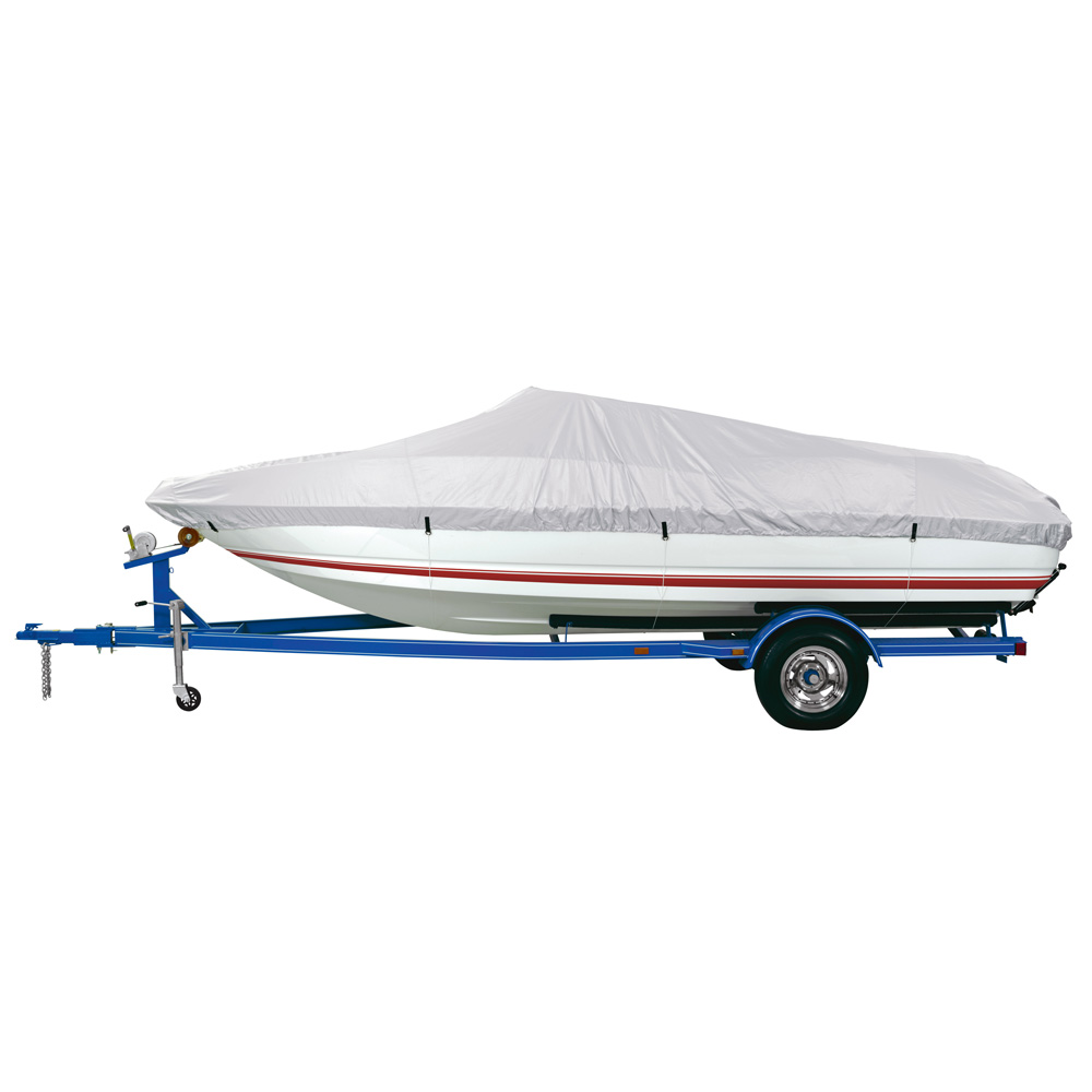 Dallas Manufacturing Co. Polyester Boat Cover B - 14'-16' V-Hull, Tri-Hull Runaboats & Alum. Bass Boats - Beam to 90