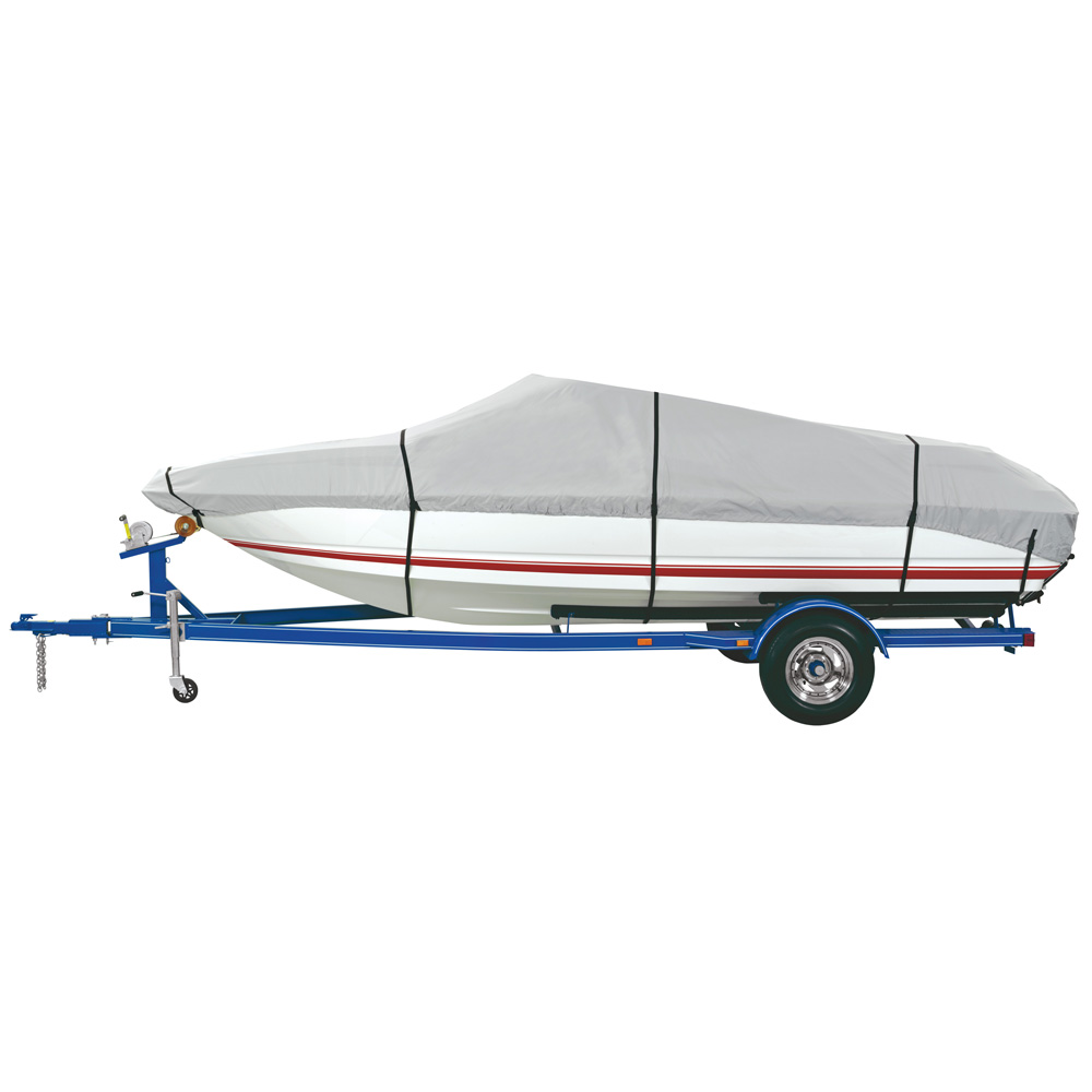 Dallas Manufacturing Co. Heavy Duty Polyester Boat Cover A - 14-16' V-Hull Fishing Boats - Beam Width to 68