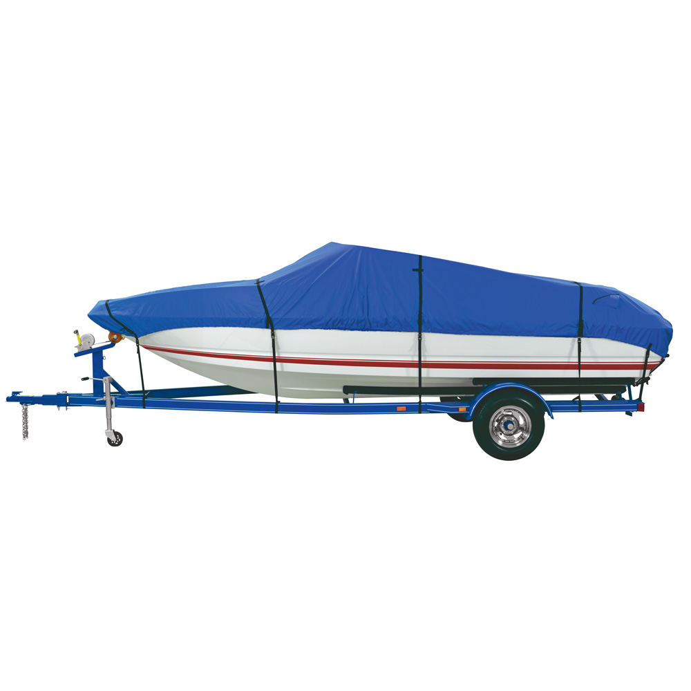 Dallas Manufacturing Co. Custom Grade Polyester Boat Cover E 20'-22' V-Hull Runabouts - Beam Width to 100