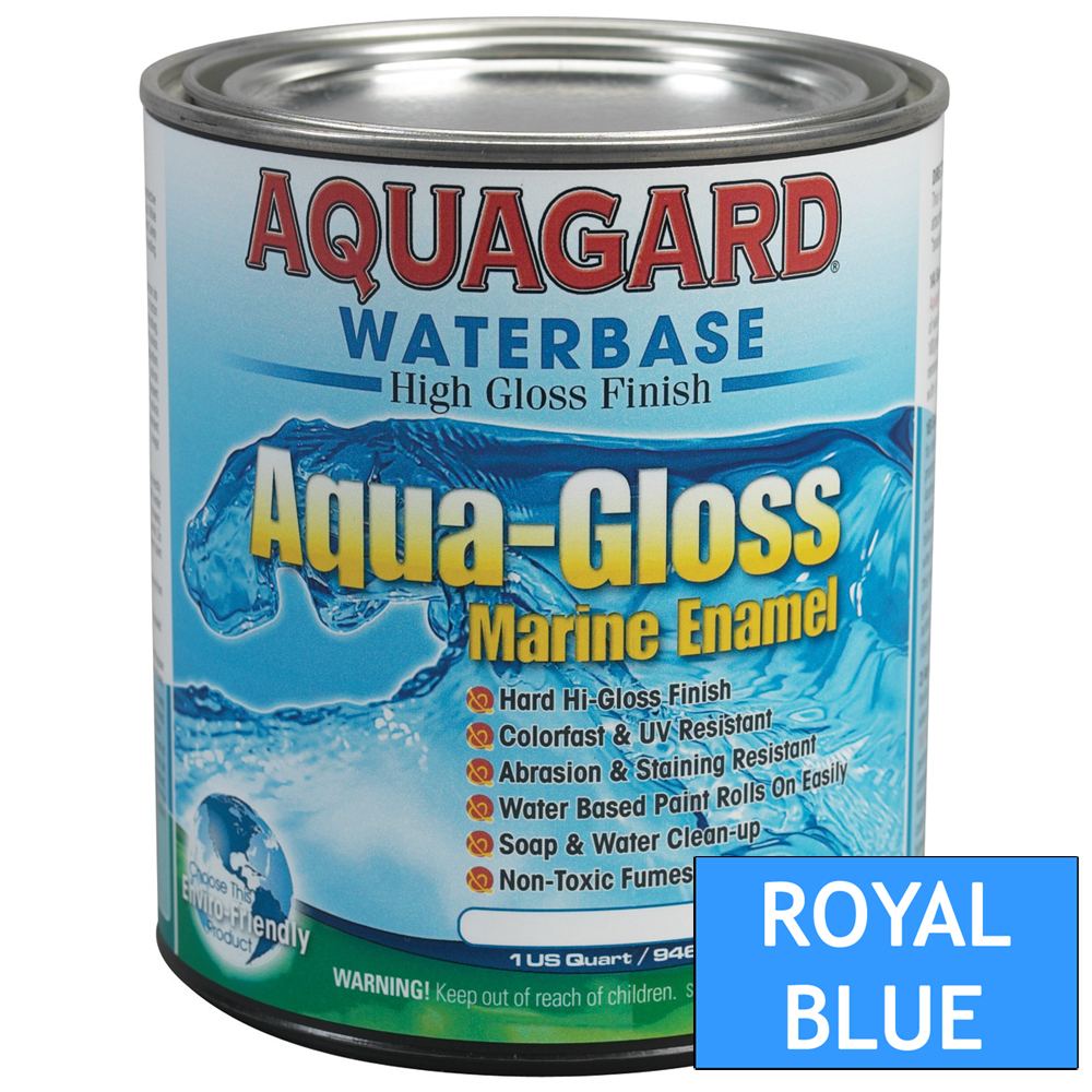 Aquagard Aqua Gloss Waterbased Enamel - 1Qt - Royal Blue