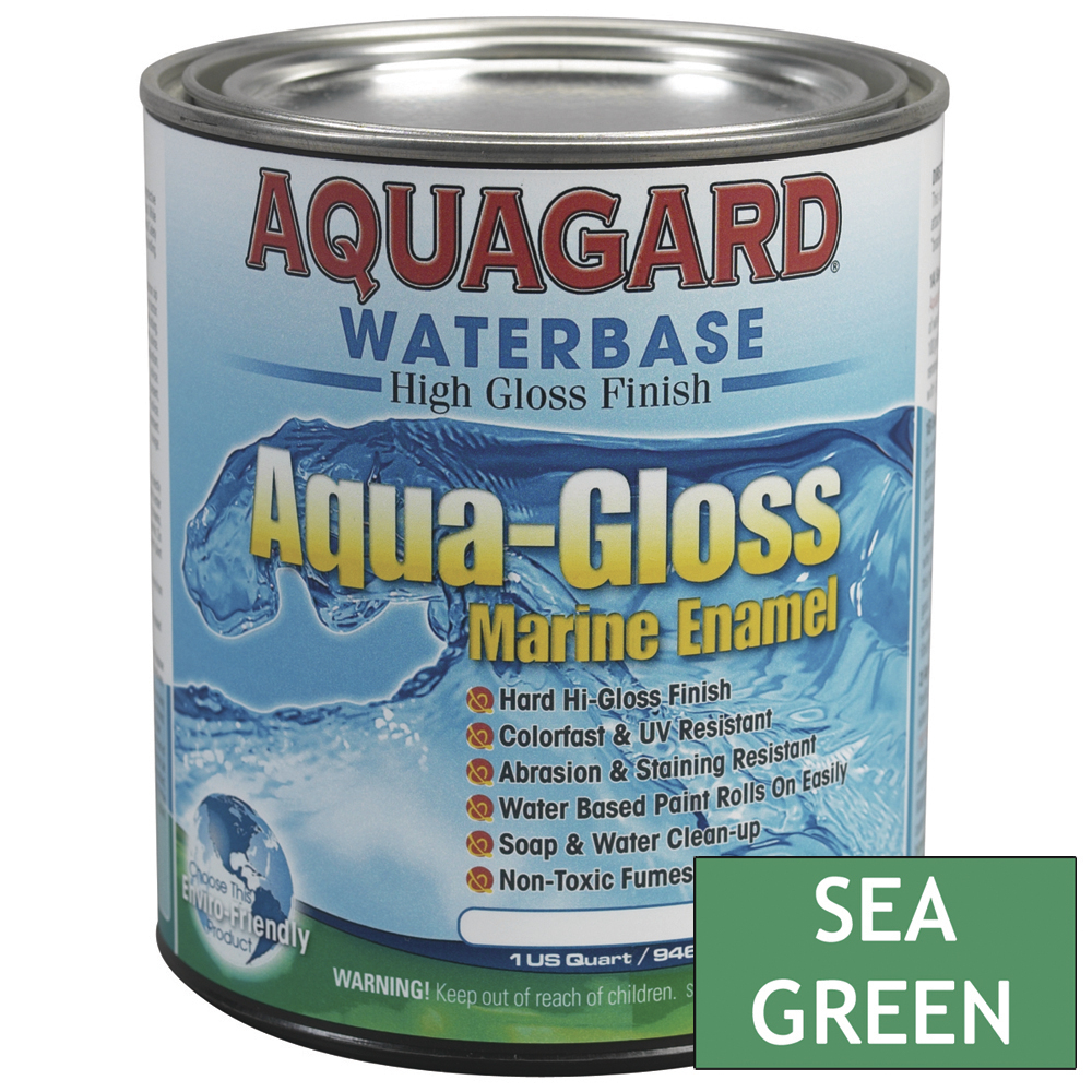 Aquagard Aqua Gloss Waterbased Enamel - 1Qt - Sea Green