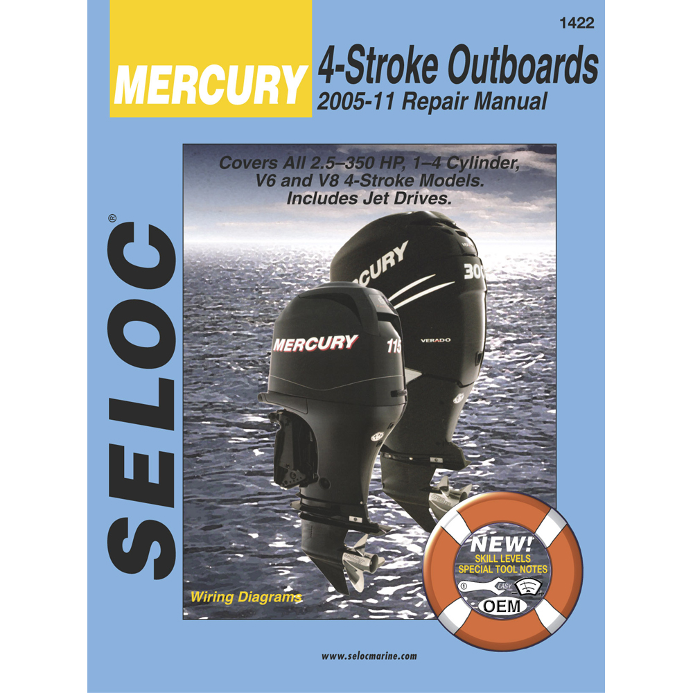 Seloc Service Manual Mercury & Mariner All 4-Stroke Engines - 2005-2011