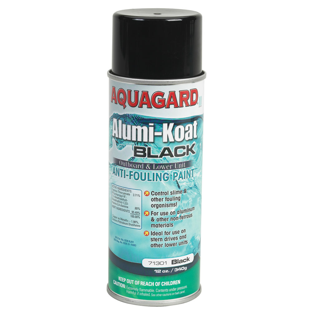 Aquagard II Alumi-Koat Spray f/Outboards & Outdrives - 12oz - Black
