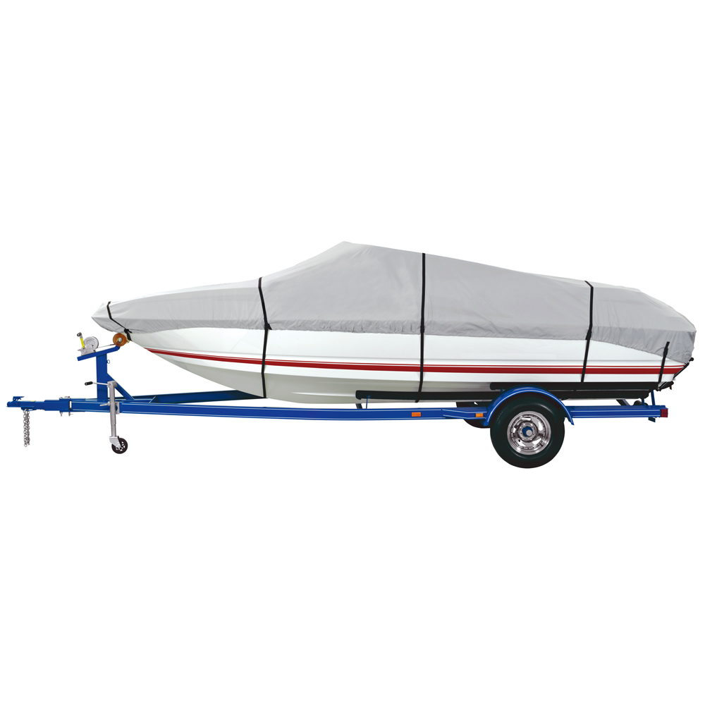 Dallas Manufacturing Co. 600 Denier Grey Universal Boat Cover - Model D - Fits 17'-19' - Beam Width to 96