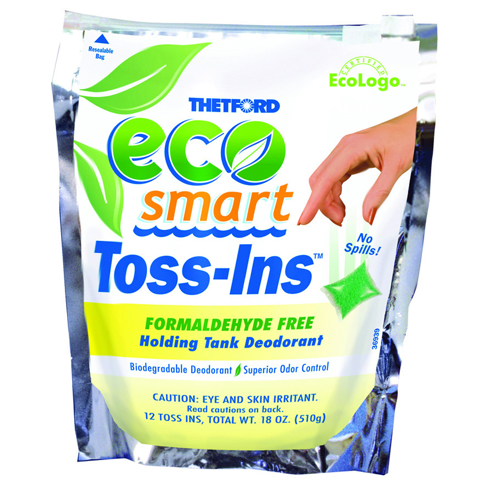 Thetford Eco-Smart Holding Tank Deodorant - Formaldehyde Free Formula - 12 Dissolvable Toss-Ins