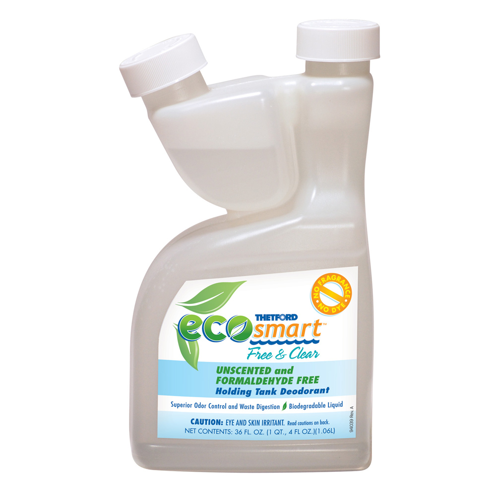 Thetford Eco-Smart Holding Tank Deodorant - Free and Clear Formula - 36 oz.