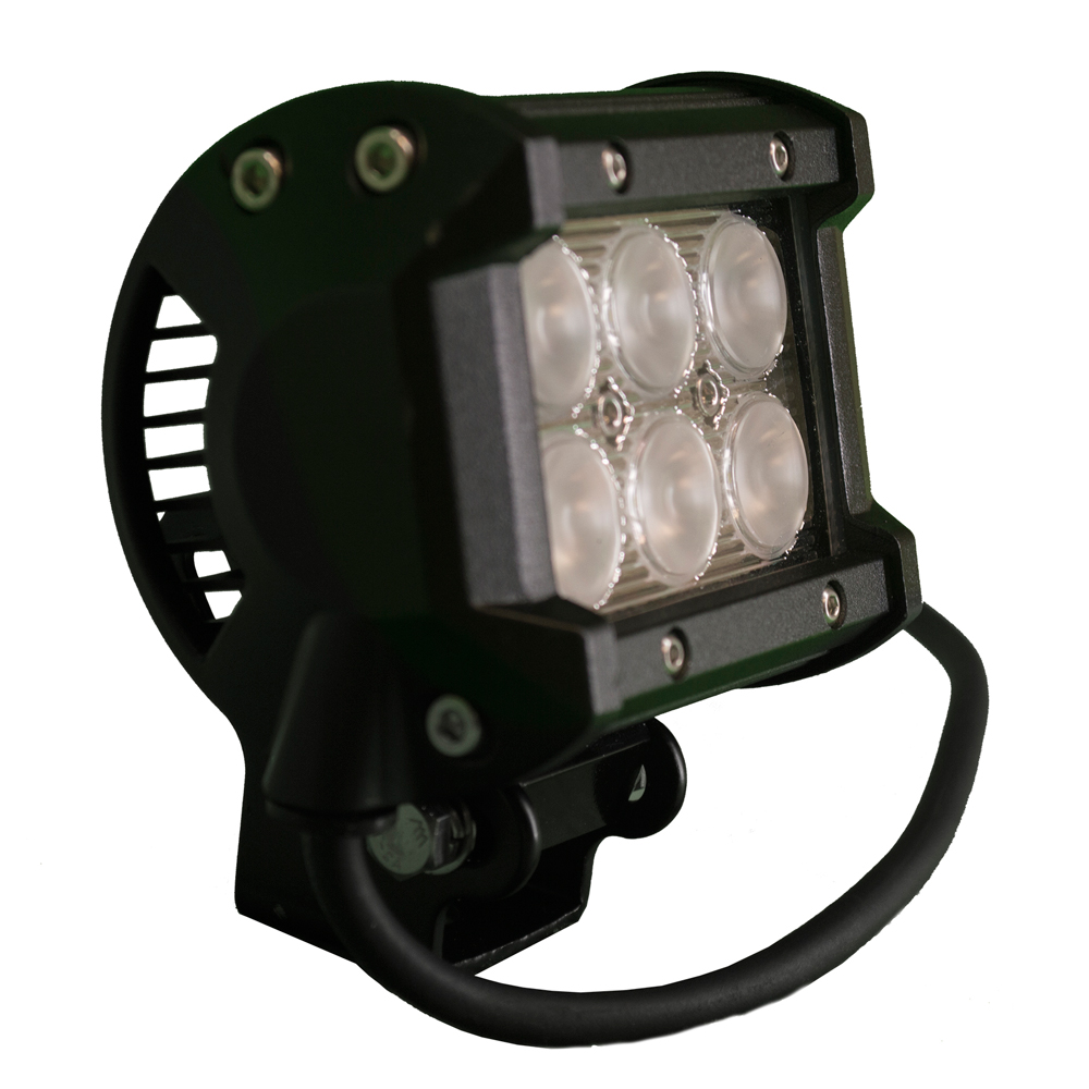 Innovative Lighting 6 LED 3W Spreader Light - White LED/Black Housing