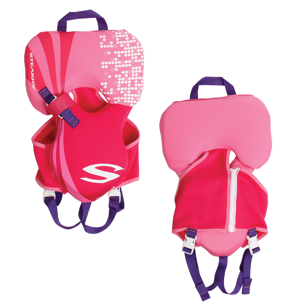 Stearns Infant Hydroprene™ Vest Life Jacket - Up to 30lbs - Pink
