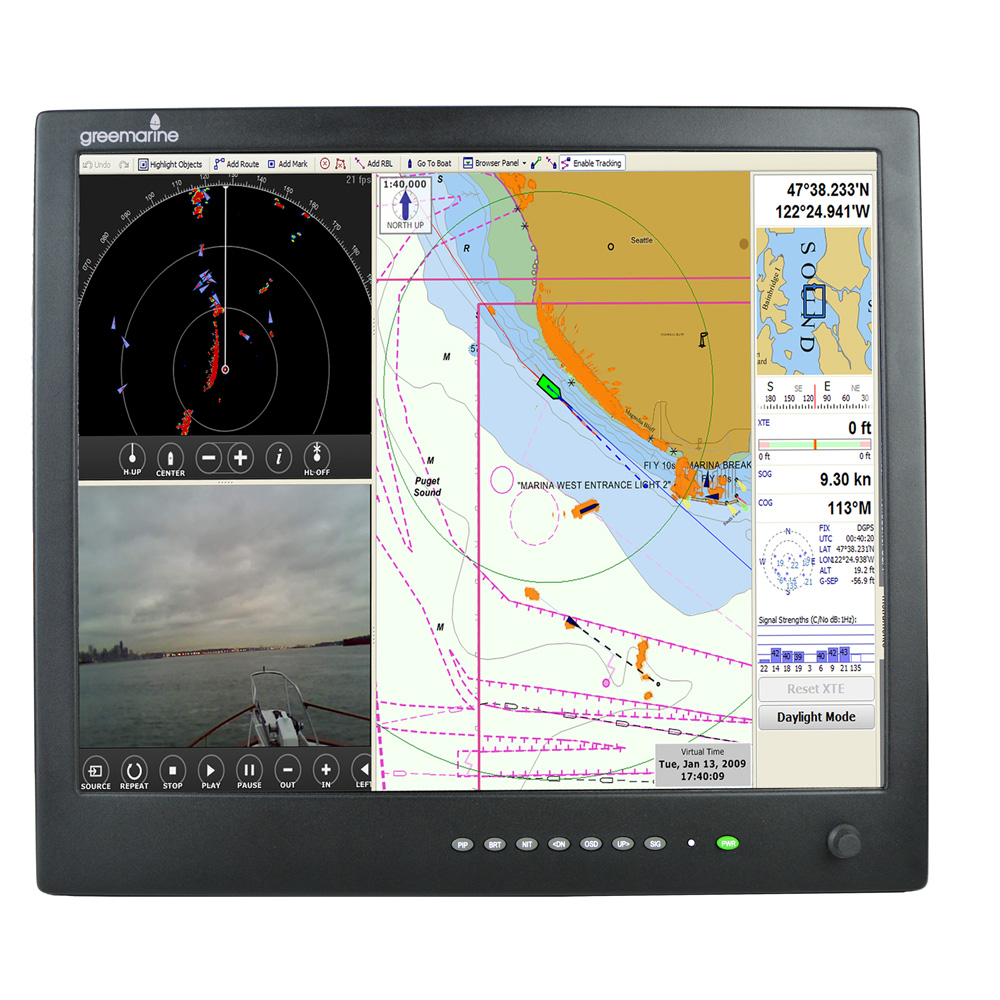 Green Marine AWM Series II IP65 Sunlight Readable Marine Display - 19