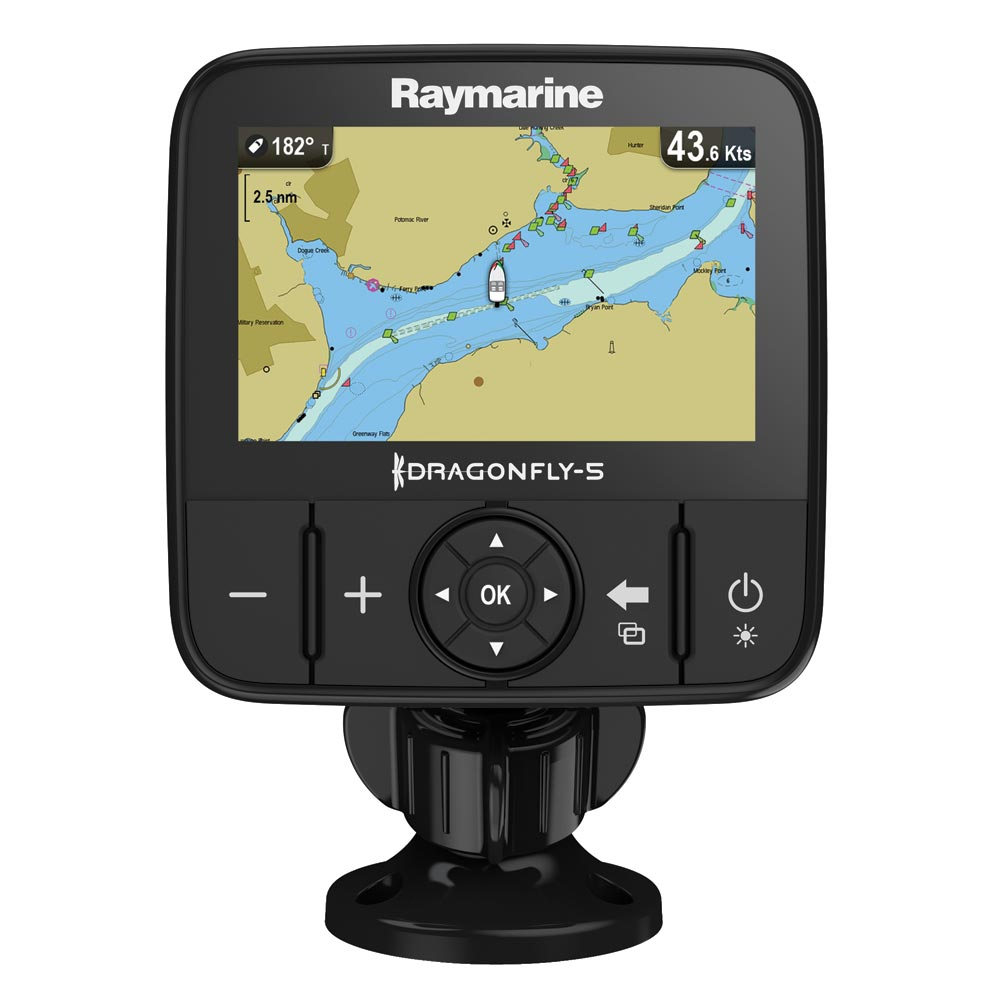 Raymarine Dragonfly 5M GPS w/US Lakes, Rivers & Coastal Maps by C-MAP