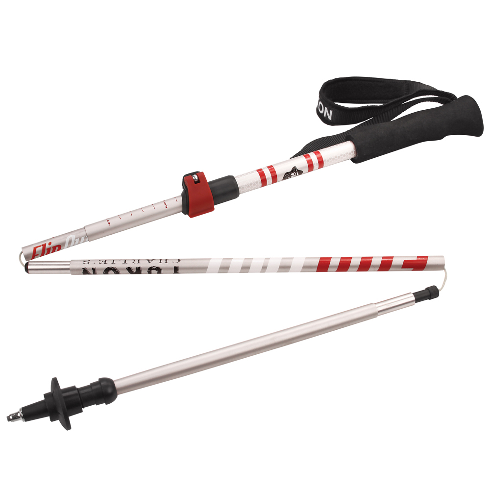 Yukon Charlie's Flipout Trekking Poles - Aluminum - Red/Silver