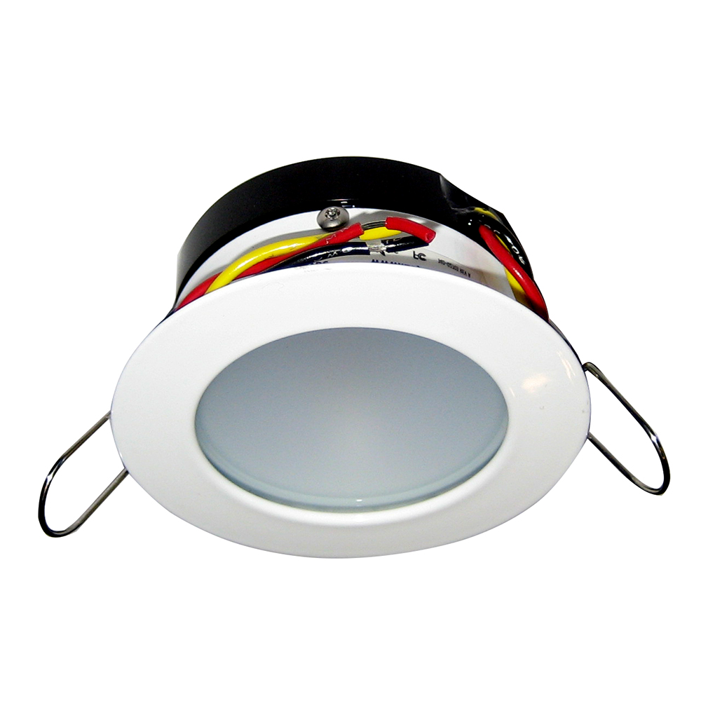i2Systems Apeiron Pro A503 Tri-Color 3W Round Dimming Light - Warm White/Red/Blue - White Finish