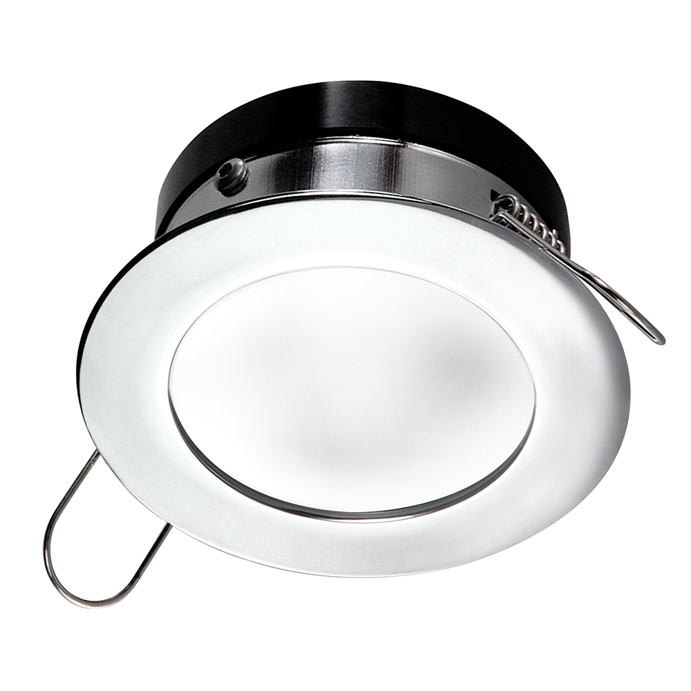 i2Systems Apeiron™ Pro Recessed LED - Tri-Color - Cool White/Red/Blue - 3W Dimming - Round Bezel - Chrome Finish