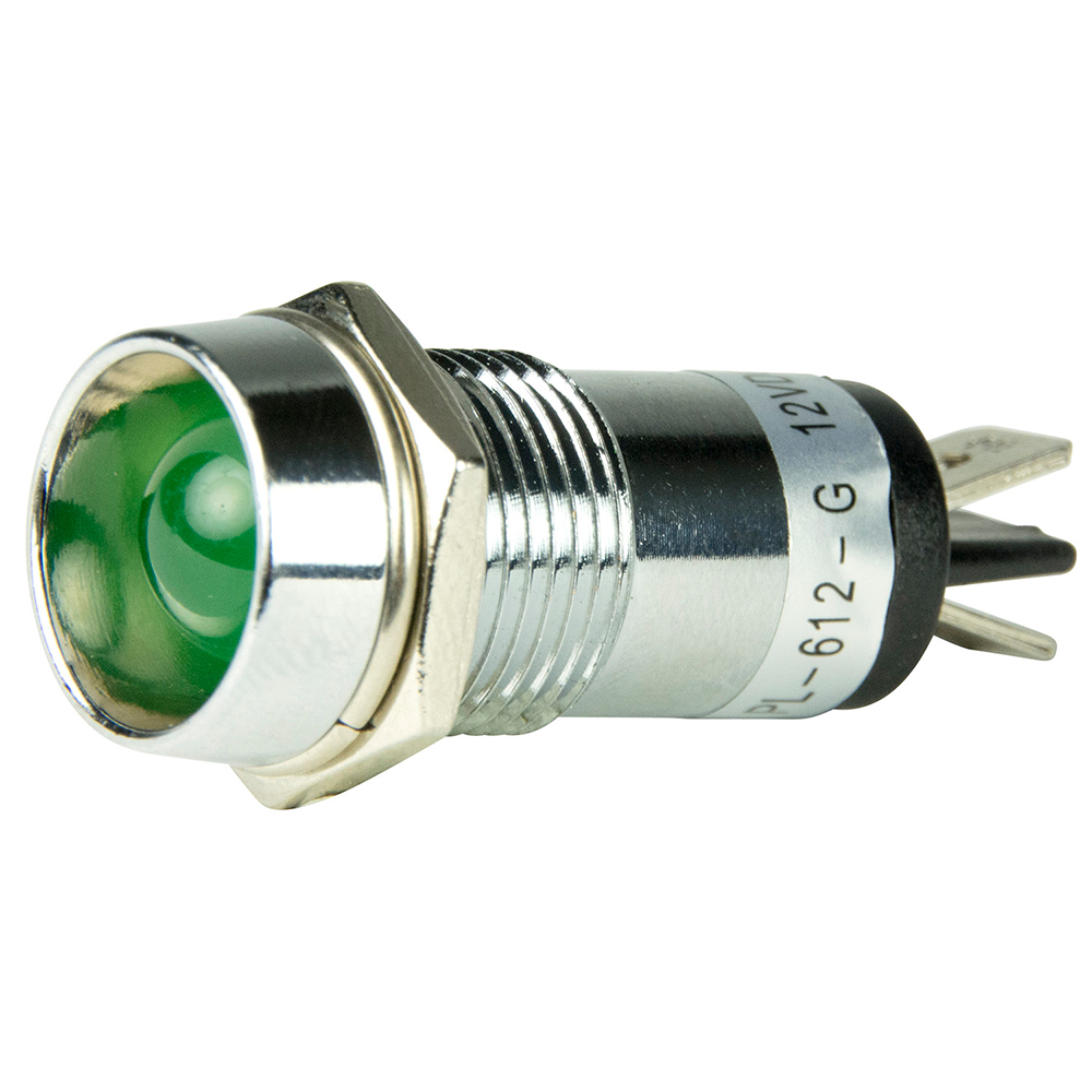 BEP LED Pilot Indicator Light - 12V - Green