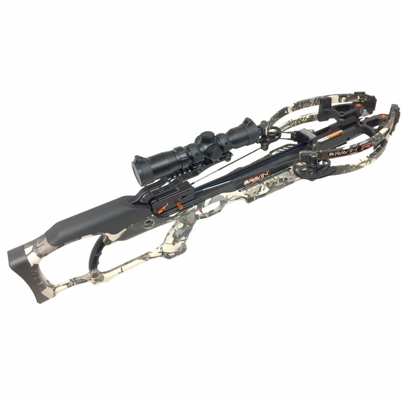 FREE 2 DAY SHIPPING     Ravin Crossbows R10 Predator Camo Helicoil Revolutionary Crossbow Package