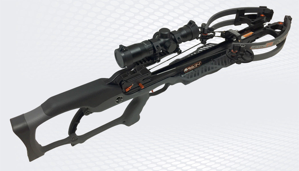 FREE 2 DAY SHIPPING      Ravin R20 High Performance Crossbow Gunmetal Gray W/ Illuminated Scope