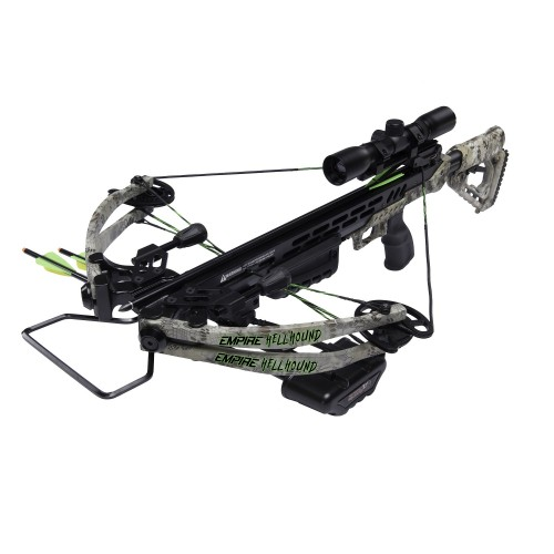 HOT DEAL  SA Sports 649 Kryptek Empire Hellhound 370 Crossbow w/ Quiver & 4x32mm Scope