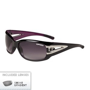 TIFOSI LUST SINGLE LENS GLOSS BLACK & PINK SUNGLASSES